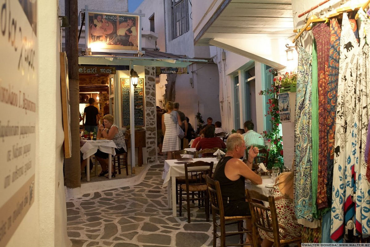 Old street market Naxos city