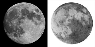 THE MOON :: POSITIVE AND NEGATIVE